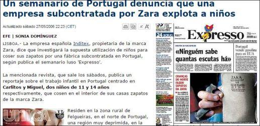 DenunciaaZaraporexplotacióndeniñosPortugal