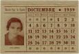 Hoja calendario 1939 Lina Odena
