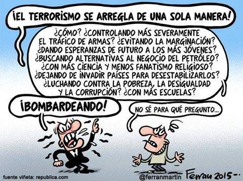 Terrorismo - Viñeta: @ferranmartin