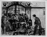 Käthe Kollwitz, La revuelta de los tejedores, 'Riot', 1894