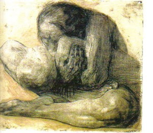 Woman with her Dead Child  1903