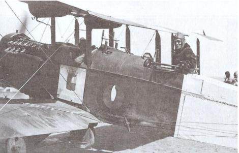 Bombardero de Havilland listo para entrar en acción (1921)