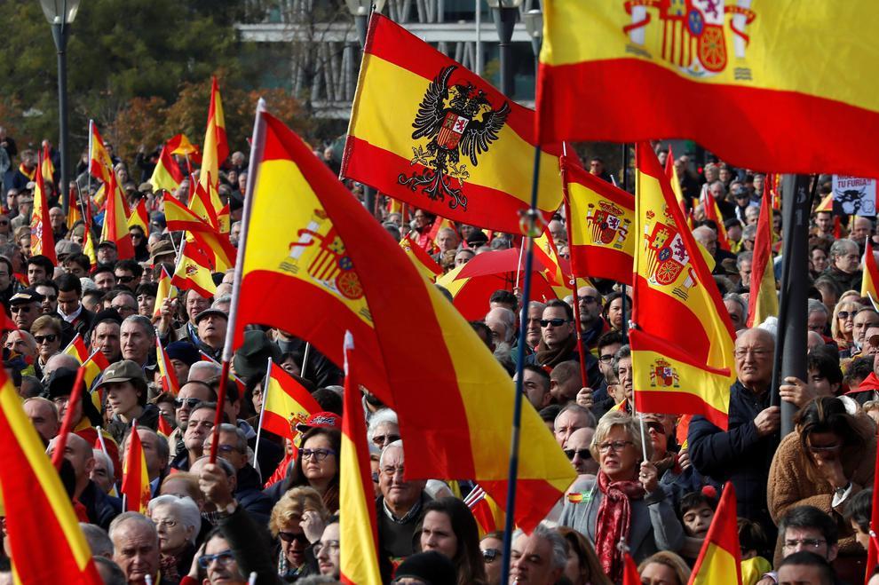 Banderas españolas franquistas/fascistas.